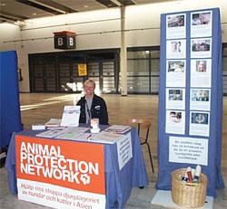 Animal Protection Network deltar på mässor för att informera om vår verksamhet