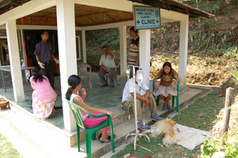 Veterinärklinik i Kalimpong, Indien