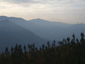Utsikt från djurhemmet i Kalimpong