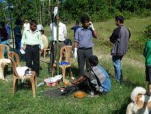 Öppen djurmottagning i Kalimpong, Indien